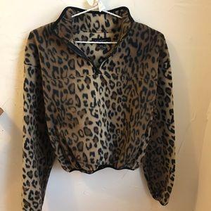 PacSun LA Hearts Soft Leopard 🐆 Pullover Jacket